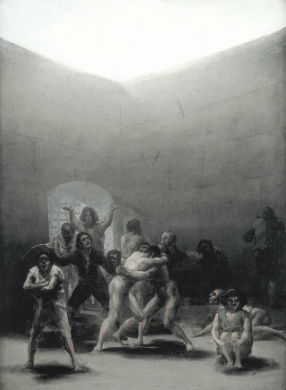 Courtyard with Lunatics by Goya, 1974
