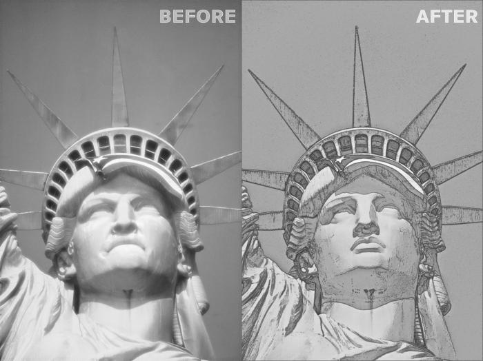 Left: Lady Liberty